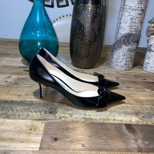 Jimmy Choo Leather Kitten Heel Pumps